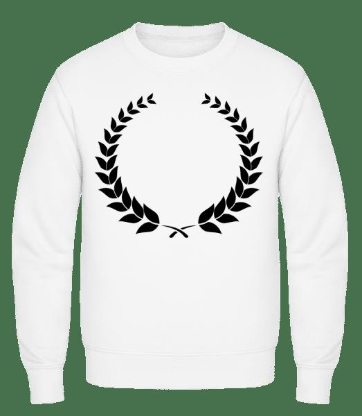Laurel Wreath - Classic Set-In Sweatshirt - White - Vorn