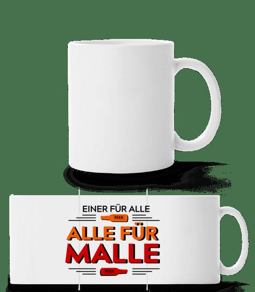 Einer Für Alle Alle Für Malle - Panoramatasse - Weiß - Vorn