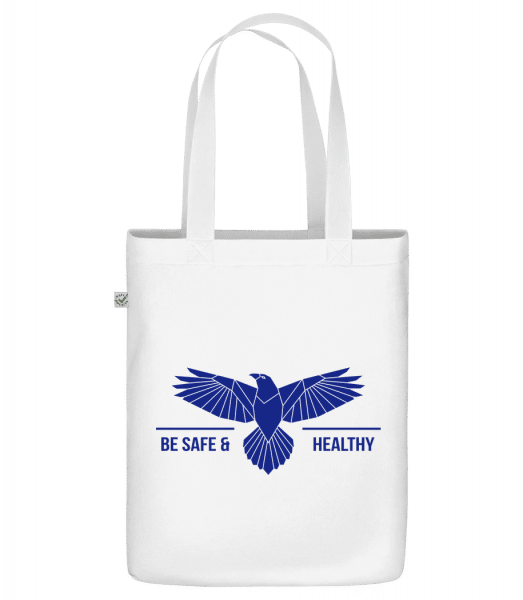 """Be Safe And Healthy - Organic """"Earth Positive"""" tote bag - White - Vorn"""