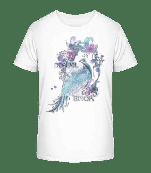 akvarel bažant - Detské Premium Bio tričko - Biela - Predné