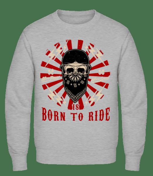 Born To Ride - Classic Set-In Sweatshirt - Heather Grey - Vorn