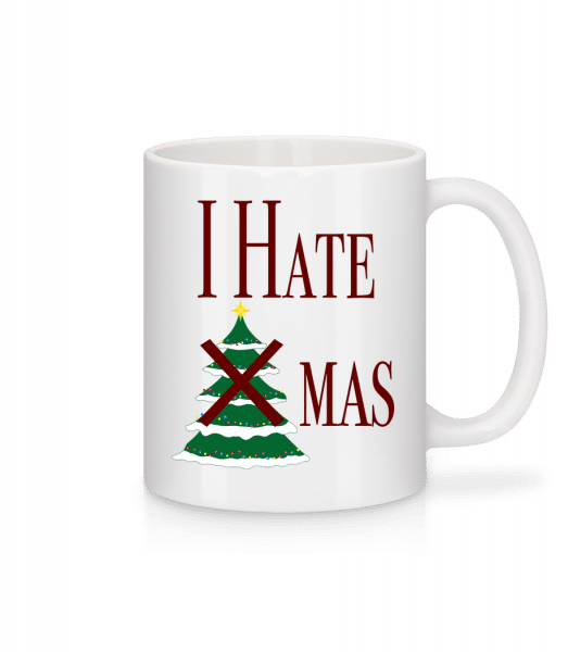 I Hate Xmas - Mug - White - Vorn