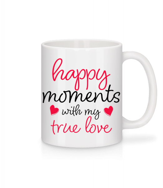 Happy Moments With My True Love - Mug - White - Front