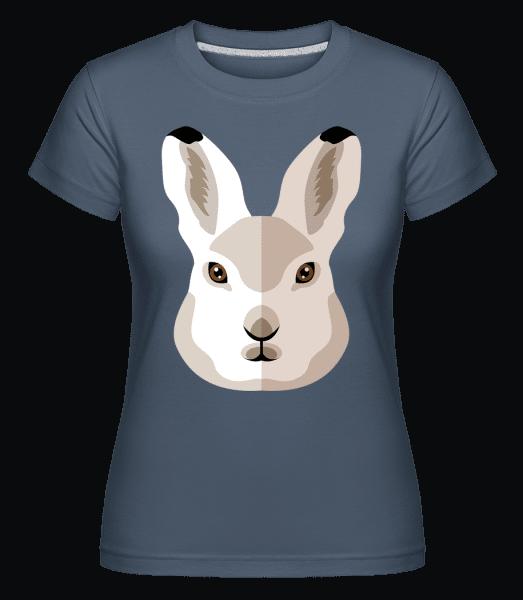 Bunny Comic Shadow -  Shirtinator Women's T-Shirt - Denim - Vorn