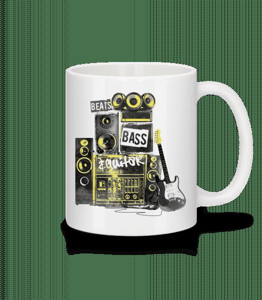 Beat Bass And Guitar - Tasse - Weiß - Vorn