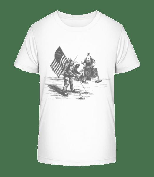Mondlandung Apollo - Kinder Premium Bio T-Shirt - Weiß - Vorn