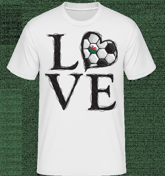 Love Football Wales -  Shirtinator Men's T-Shirt - White - Vorn
