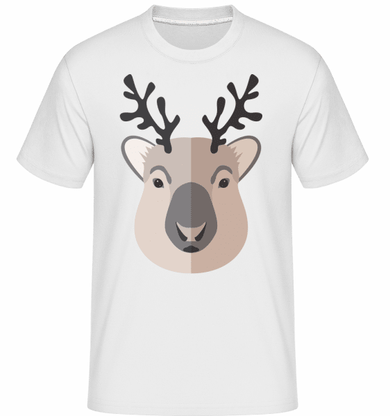 Deer Comic Shadow -  Shirtinator Men's T-Shirt - White - Vorn