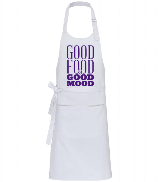 Good Food Is Good Mood - Professional Apron - White - Vorn