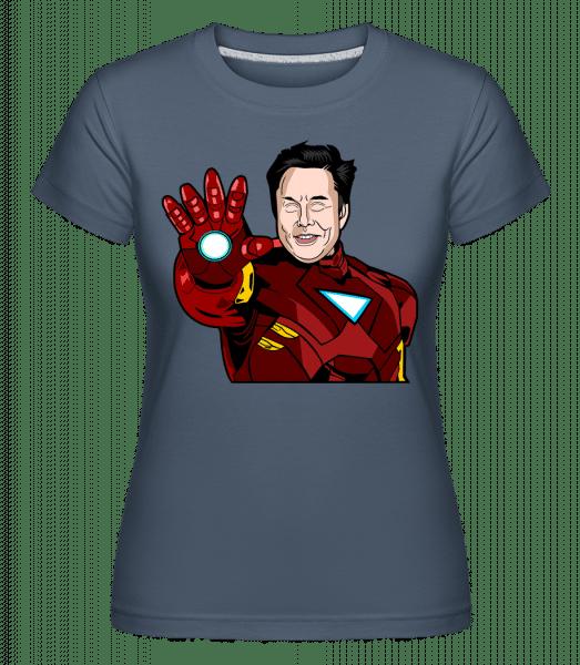 Elon Musk Iron Man -  Shirtinator Women's T-Shirt - Denim - Vorn