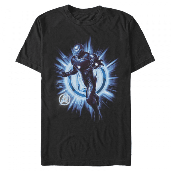 Ironman Endgame Iron Man - Marvel Avengers Endgame - Men's T-Shirt - Black - Front