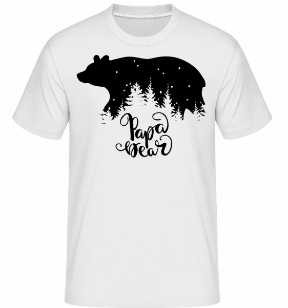 Papa Bear - Shirtinator Männer T-Shirt - Weiß - Vorn