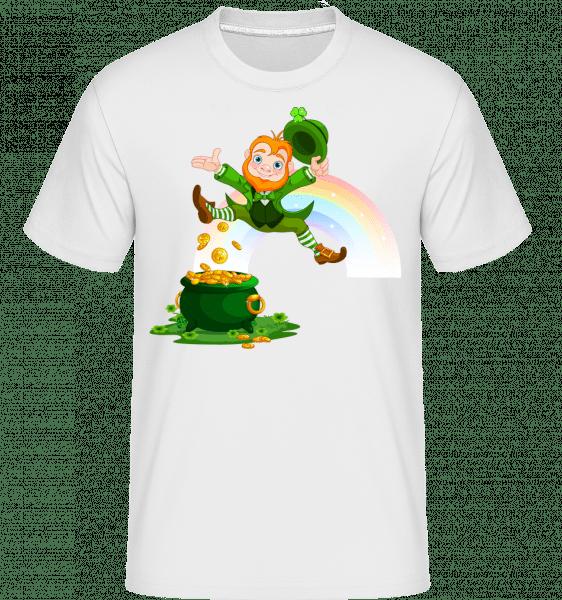 Irish Fairy Logo -  Shirtinator Men's T-Shirt - White - Vorn