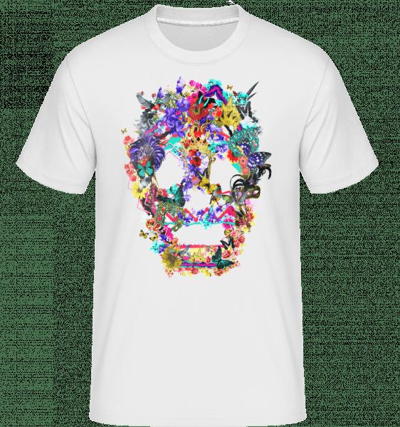 Skull Collage Brazil -  Shirtinator Men's T-Shirt - White - Front