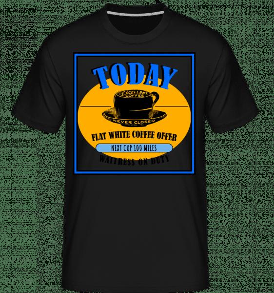 Flat White Coffee Offer - Shirtinator Männer T-Shirt - Schwarz - Vorn
