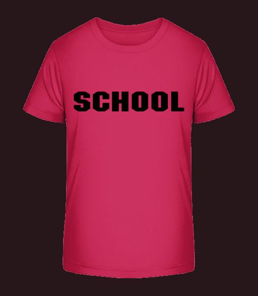 School Sign - Kid's Premium Bio T-Shirt - Magenta - Front