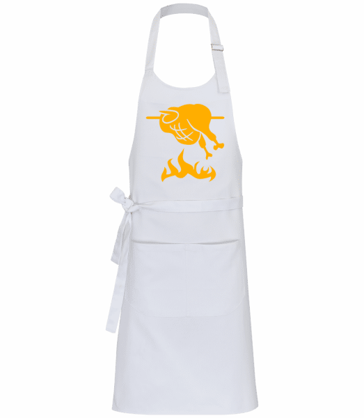 BBQ Chicken Sign - Professional Apron - White - Front