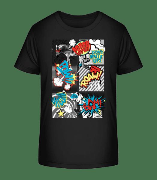 Comic Tiere - Kinder Premium Bio T-Shirt - Schwarz - Vorn