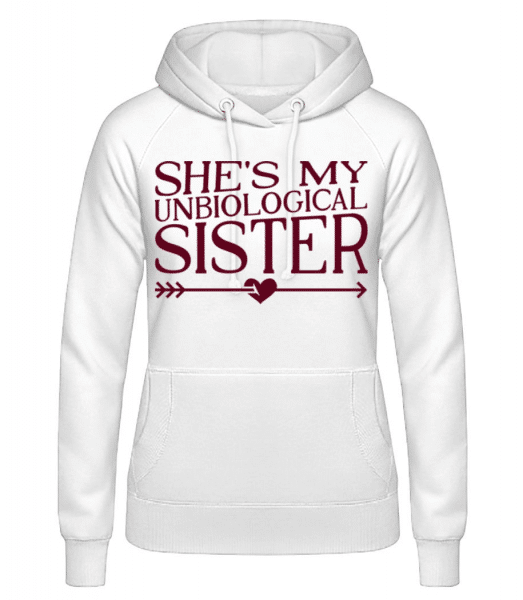 Unbiological Sister - Women's Hoodie - White - Front