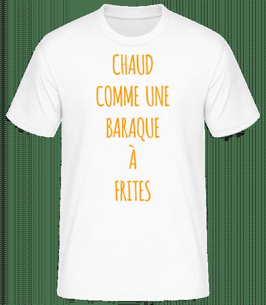 Comme Une Baraque À Frites - T-shirt standard Homme - Blanc - Vorn
