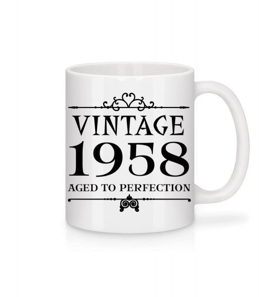 Vintage 1958 Perfection - Mug - White - Front