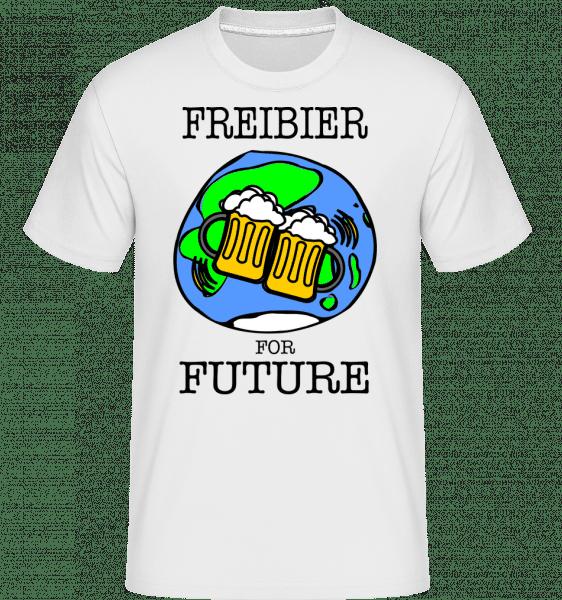 Freibier For Future -  Shirtinator Men's T-Shirt - White - Vorn