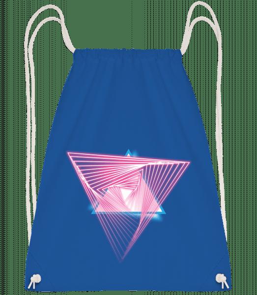 Laser Triangles - Drawstring Backpack - Royal blue - Vorn