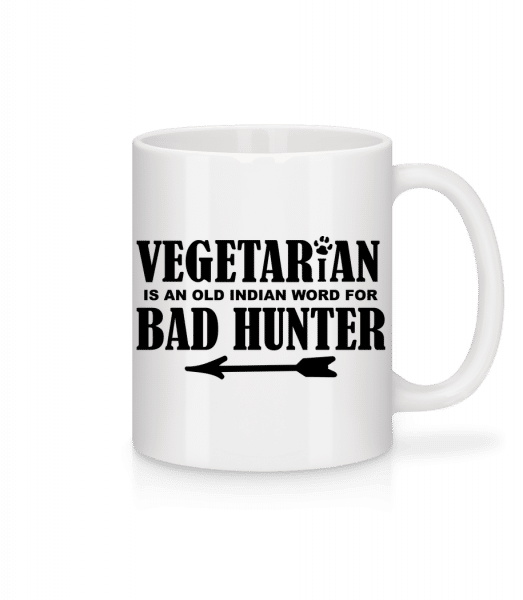 Vegetarian Bad Hunter - Mug - White - Front