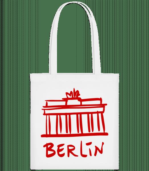 Berlin Sign - Carrier Bag - White - Vorn