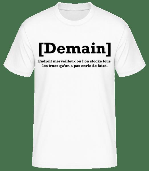 Demain - T-shirt standard Homme - Blanc - Devant
