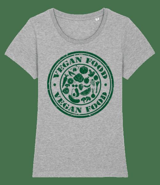Vegan Food Sign - Women's Premium Organic T-Shirt Stanley Stella - Heather grey - Vorn