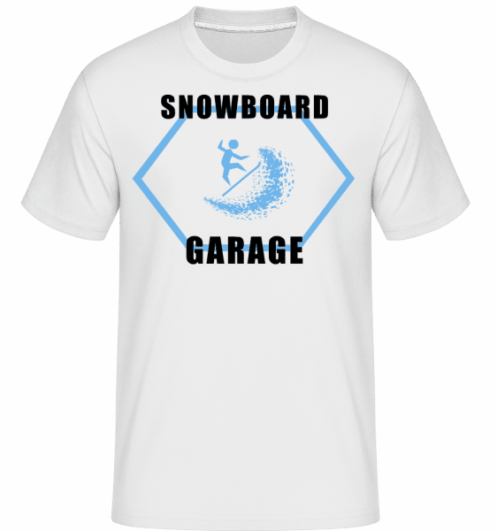 Snowboard Garage Sign -  Shirtinator Men's T-Shirt - White - Vorn