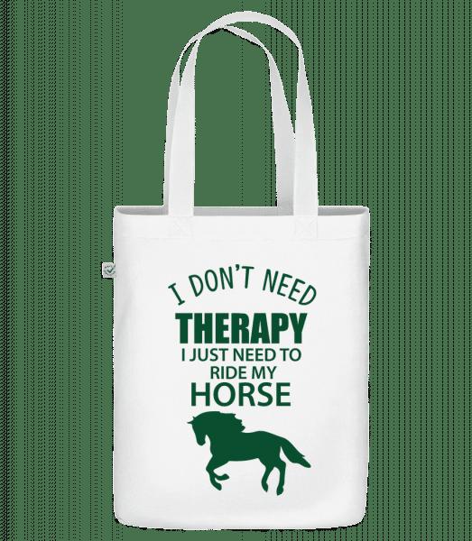 """I Need To Ride My Horse - Organická taška """"Earth Positive"""" - Biela - Predné"""