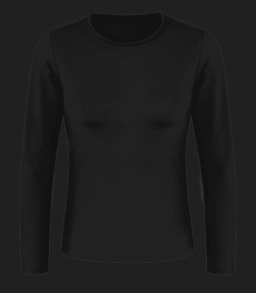 Dámské tričko s dlouhým rukávem basic - Černá - Napřed