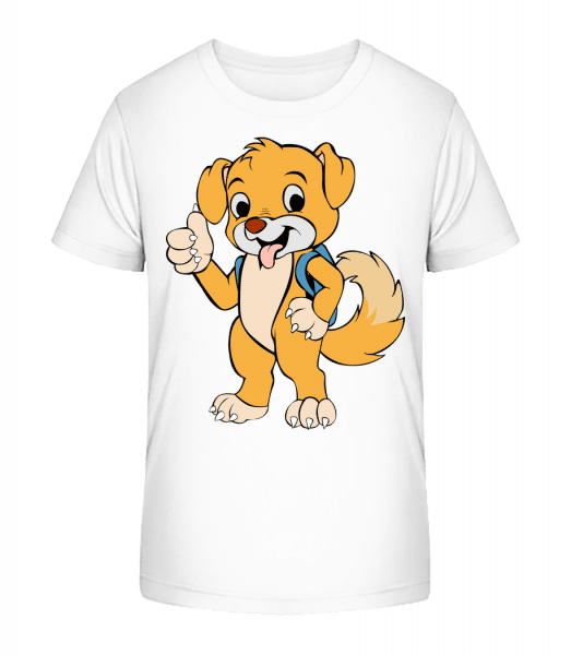 Cute Dog With Bag - Kid's Premium Bio T-Shirt - White - Vorn