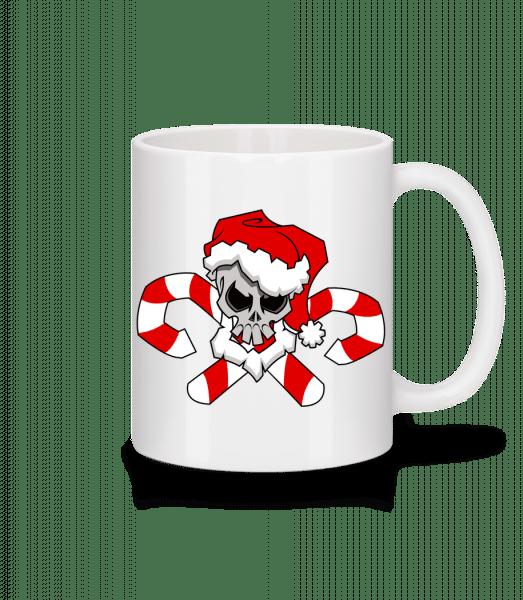 Christmas Skull - Mug - White - Vorn