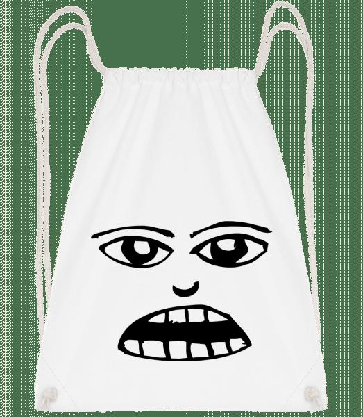 Face Symbol Black - Turnbeutel - Weiß - Vorn