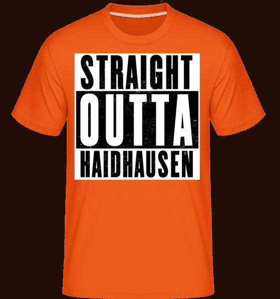 Straight Outta Haidhausen - Shirtinator Männer T-Shirt - Orange - Vorn
