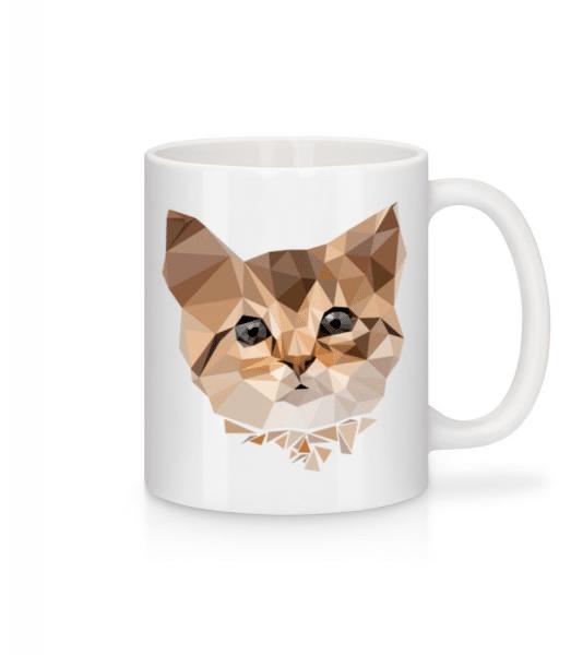 Polygon Cat - Mug - White - Front