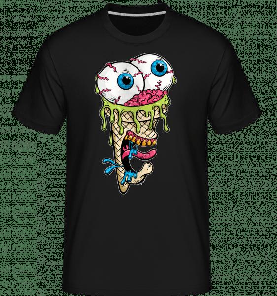 Horror Ice Cream -  Shirtinator Men's T-Shirt - Black - Vorn