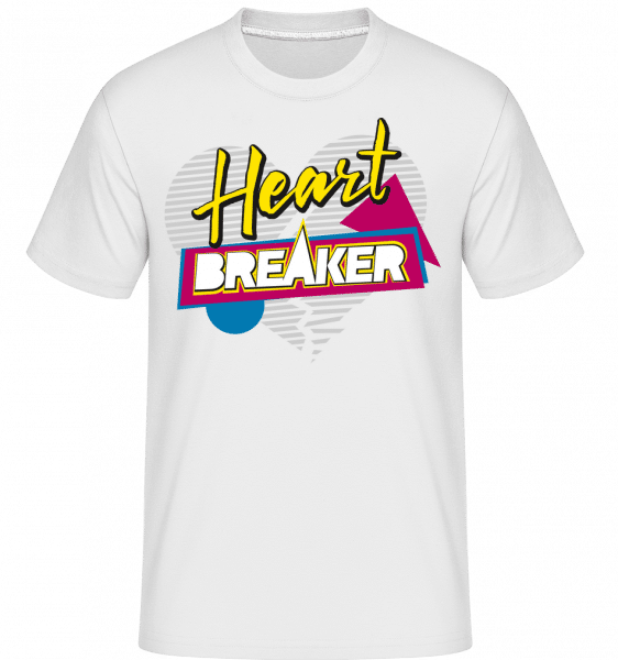 Heart Breaker -  Shirtinator Men's T-Shirt - White - Vorn