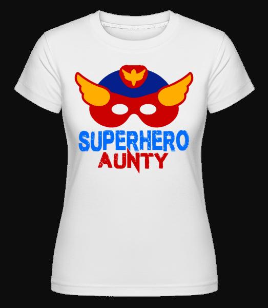 Superhero Aunty -  T-shirt Shirtinator femme - Blanc - Devant