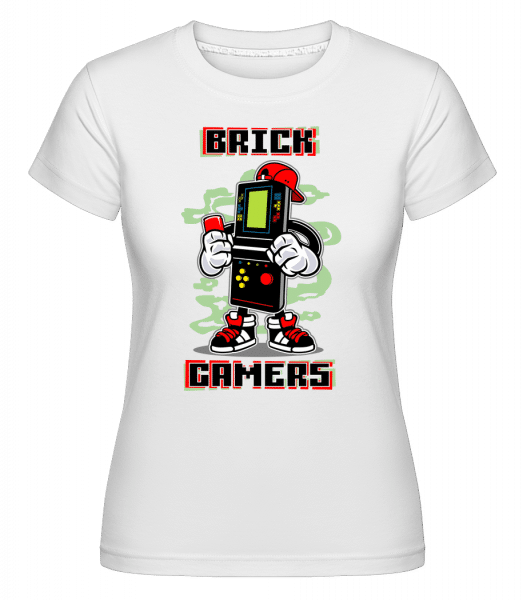 Brick Gamers -  Shirtinator Women's T-Shirt - White - Vorn