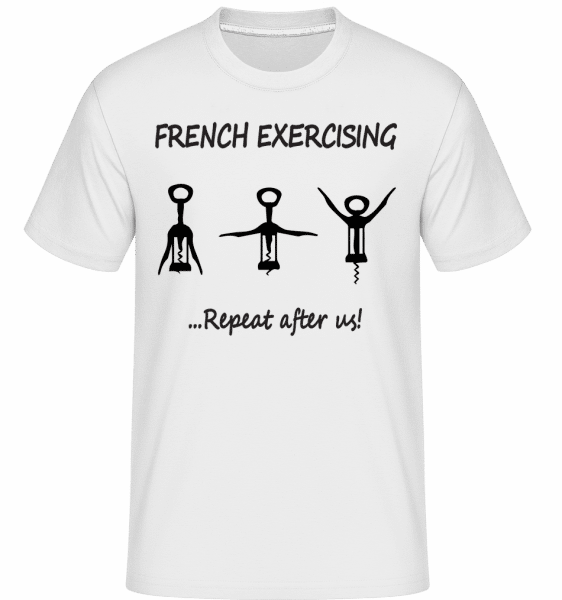 French Exercising -  T-Shirt Shirtinator homme - Blanc - Vorn