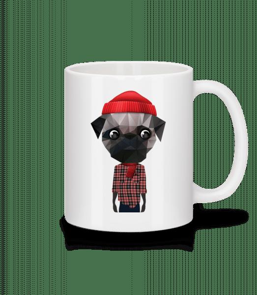 Polygon Dog Hipster - Mug - White - Front