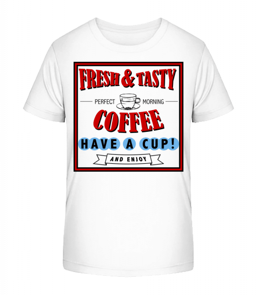 Fresh&Tasty - Kid's Premium Bio T-Shirt - White - Vorn