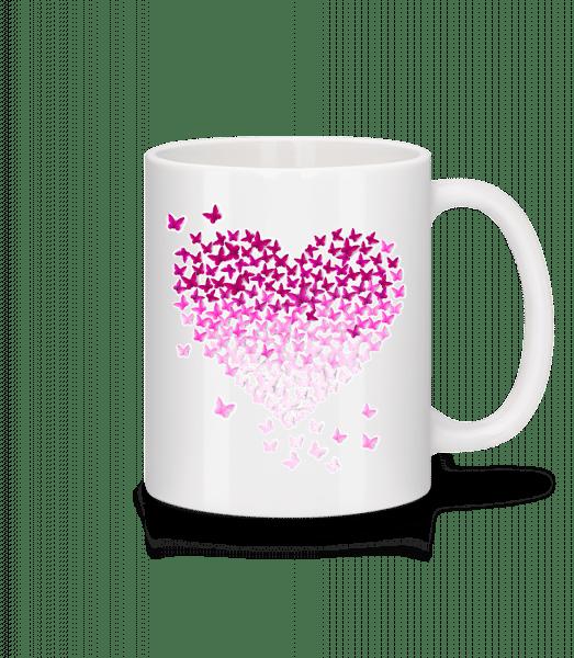 Butterfly Heart - Mug - White - Vorn