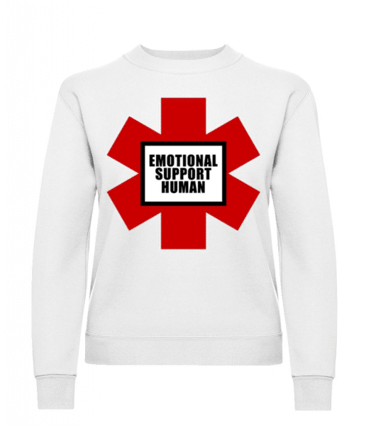 Emotional Support Human - Women's Sweatshirt - White - Front