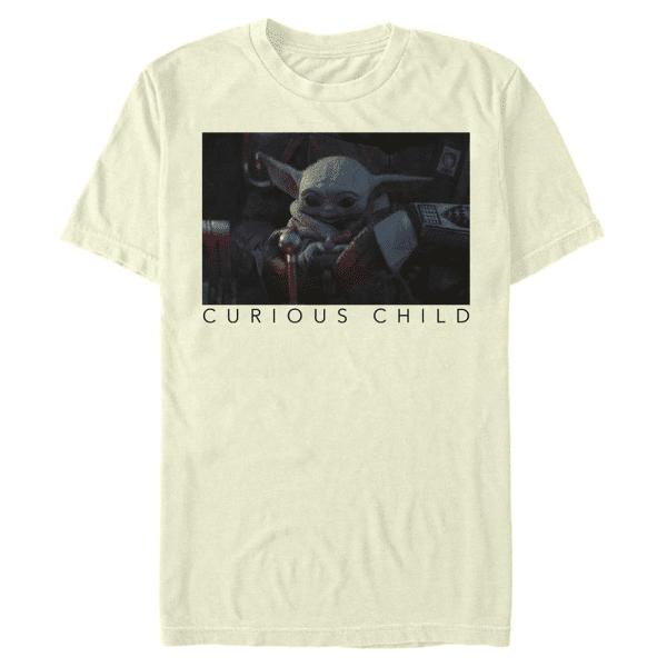 Curious Photo The Child - Star Wars Mandalorian - Men's T-Shirt - Cream - Front