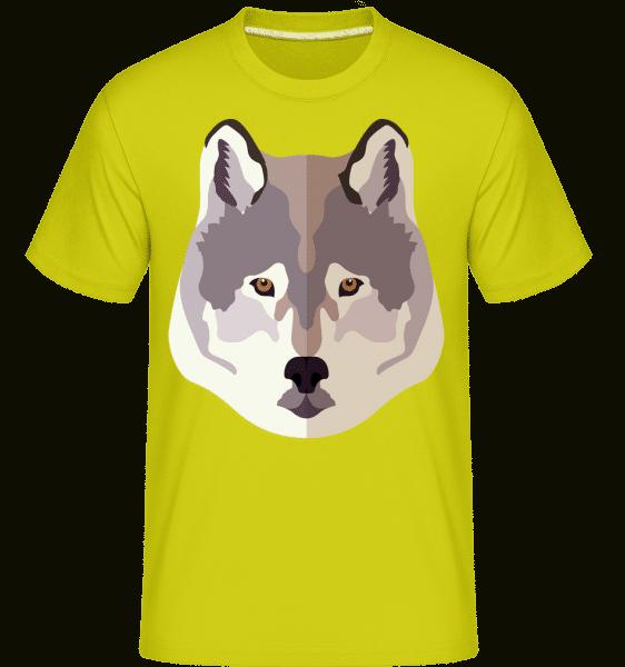 Wolf Comic Shadow -  Shirtinator Men's T-Shirt - Apple green - Vorn